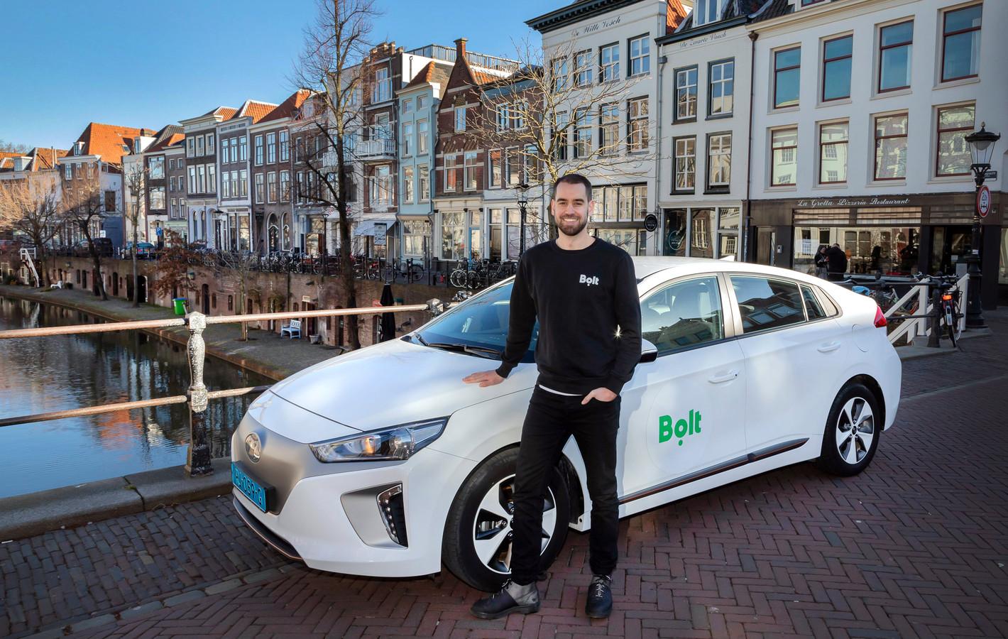 Manager Lars Speekenbrink van Bolt. Het taxiplatform is sinds kort ook in Utrecht actief