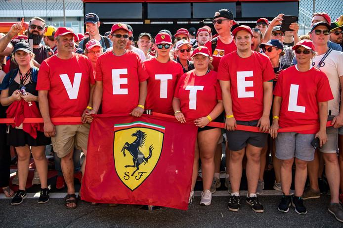 Fans van Sebastian Vettel.