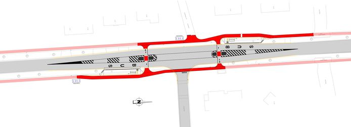 Op de Olenseweg komen er middengeleiders om zo veilige fietsoversteken te creëren.