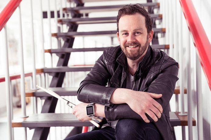 Producer/drummer Dennis van Amstel.