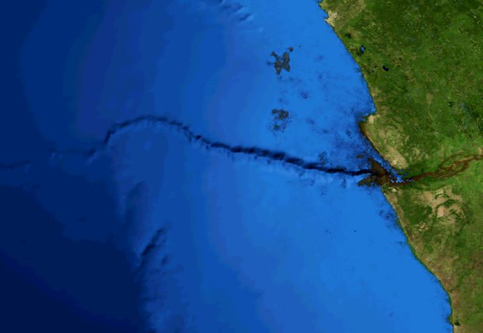 De zogenaamde Congo-canyon, een van de grootste onderwaterkloven ter wereld.