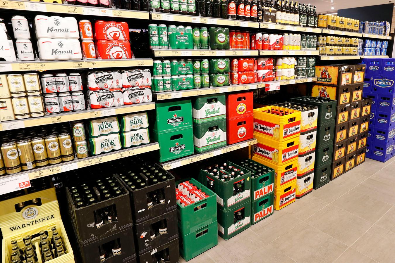 Bier in een supermarkt. Foto ter illustratie.