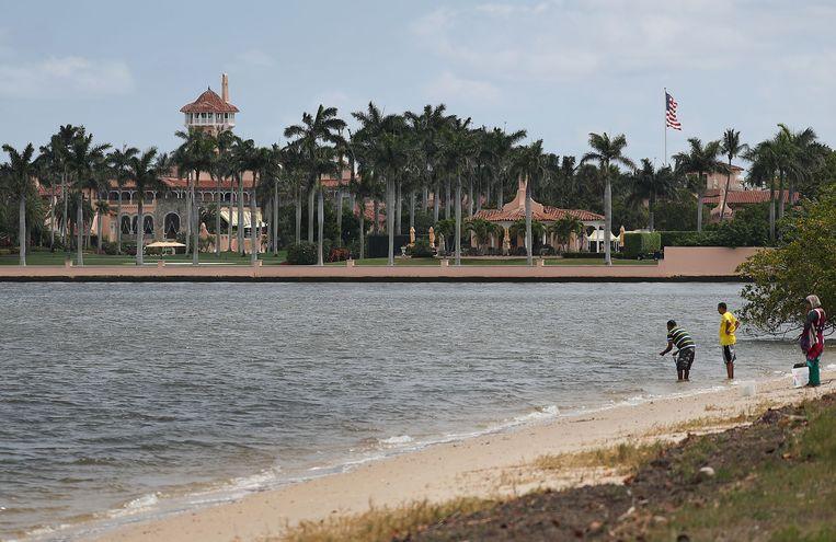 Mar-a-Lago, Trumps luxegolfresort in Palm Beach, in de Amerikaanse staat Florida. Beeld AFP