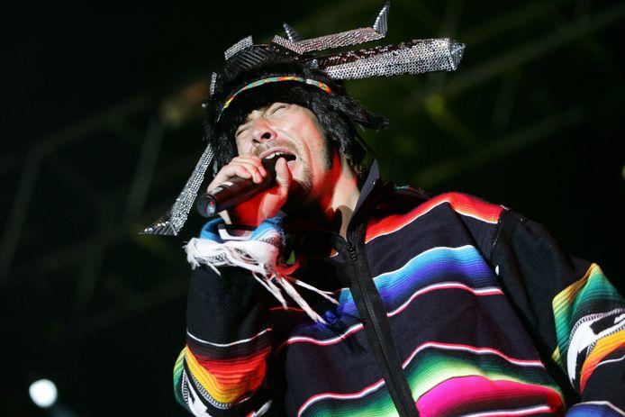 Jay Kay als zanger van Jamiroquai, foto uit 2006.
