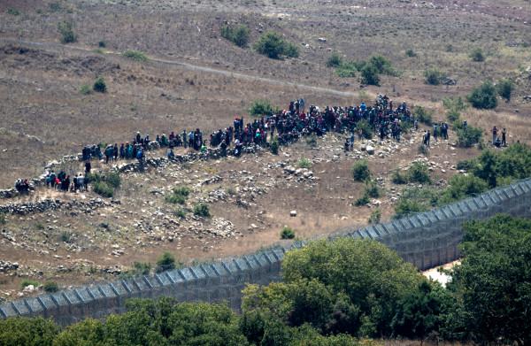 **Israël houdt Syrische vluchtelingen tegen op de Golan-hoogvlakte**