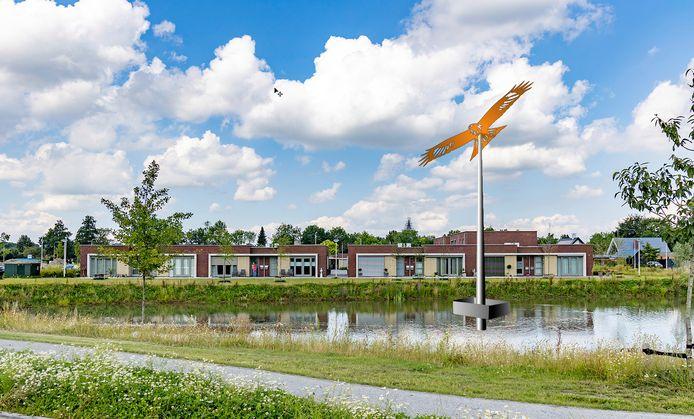 Een artist's impression van hoe het kunstwerk de Hoge Wouw in nieuwbouwwijk De Hoogt er uit komt te zien.