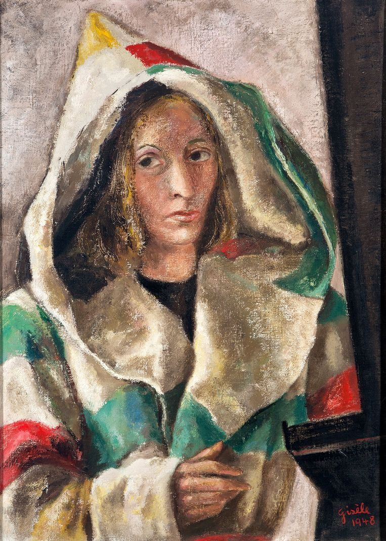 Een zelfportret van Gisèle van Waterschoot van der Gracht, 1948.  Beeld Amsterdam Museum