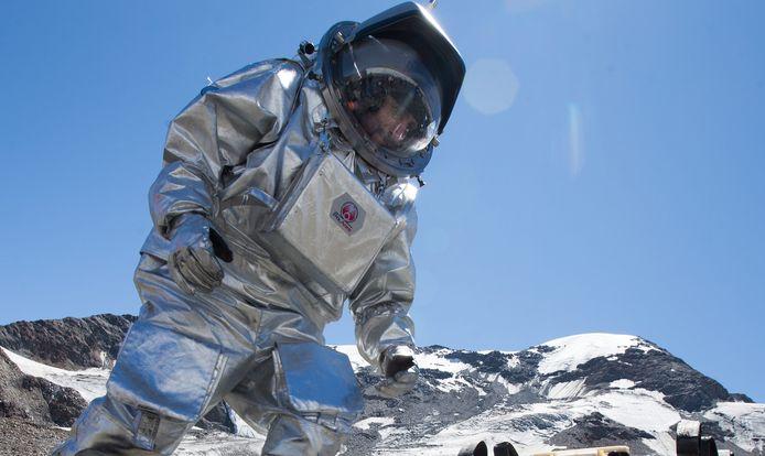 Mars-simulatie op de Oostenrijkse Kaunertal gletsjer.