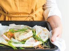 Wat Eten We Vandaag: Pakketjes van kabeljauw, zeekraal en groente