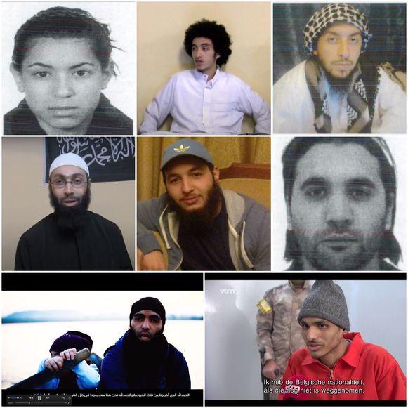 Van links naar rechts: Yasmina Zamrouni, Soufiane Mezroui, Ahmed Daoudi, Ahmed Dihaj, Nabil Kasmi, Brahim El Mimouni, Mohamed Boudasis en Abdellah Nouamane.