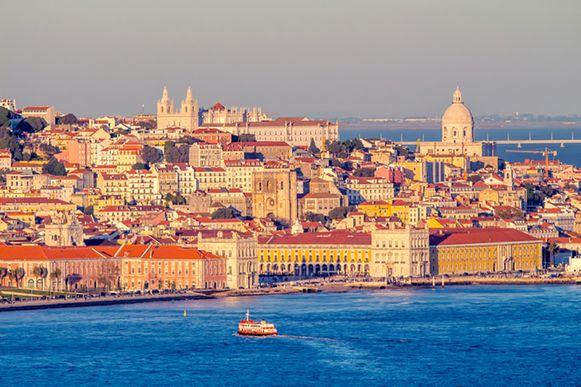 Het historische centrum van Lissabon.