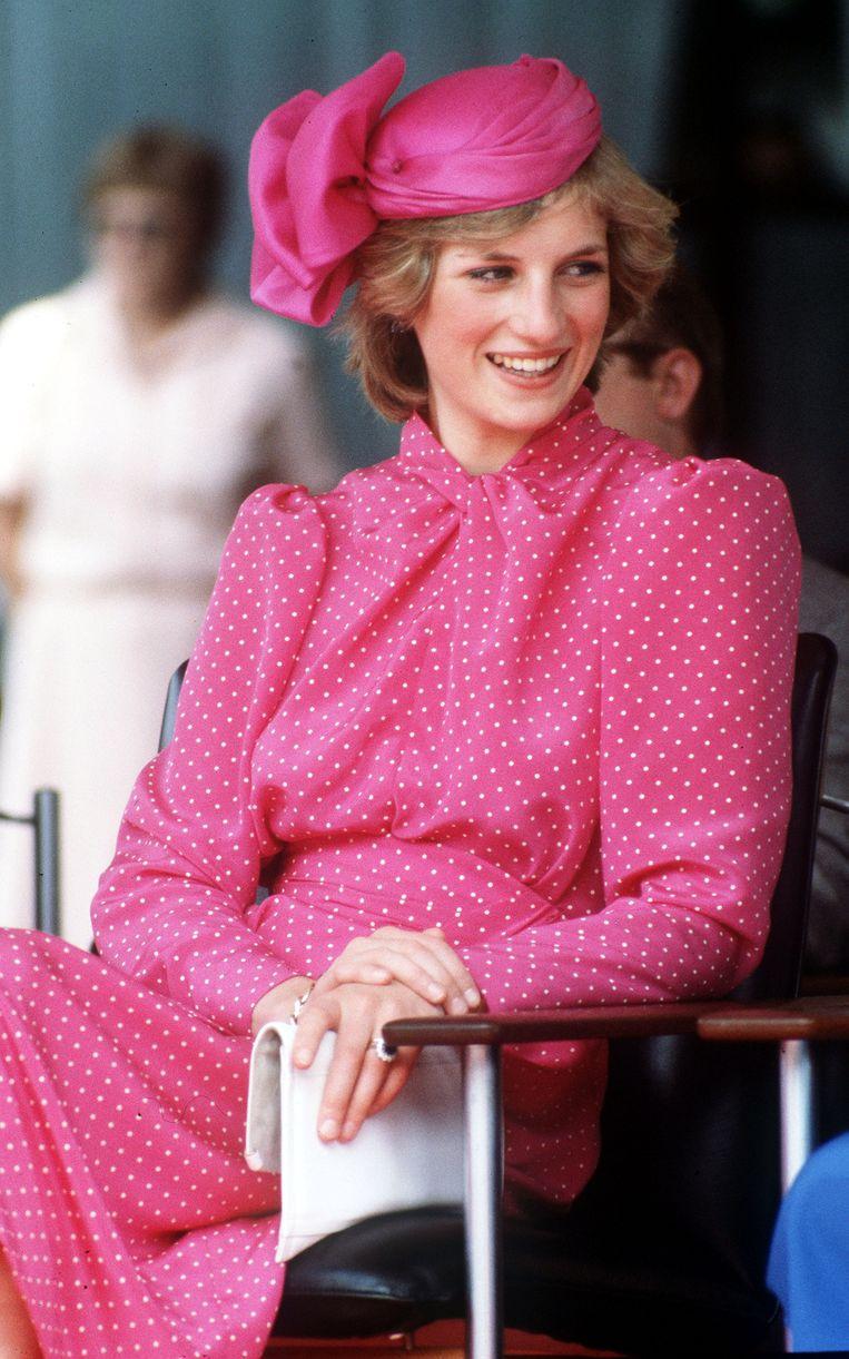 Prinses Diana (1961-1997) tijdens een bezoek aan Perth, Australië, in 1983. Beeld Getty