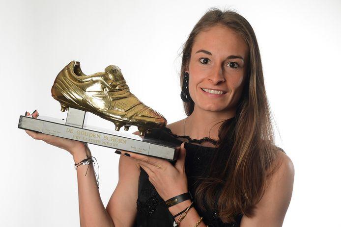 Tessa Wullaert won vorig jaar de allereerste Gouden Schoen voor vrouwen.