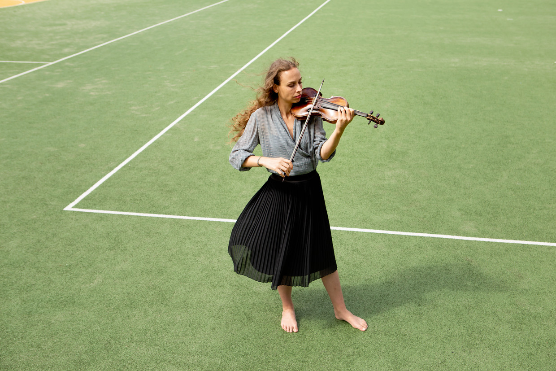 Nederlandse barokvioliste Eva Saladin, artist in residence van het Festival Oude Muziek in Utrecht. Beeld Pauline Niks