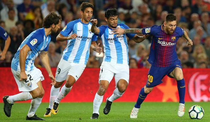 Lionel Messi aan de bal.