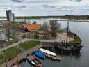 De twee panden op de Koggewerf in Kampen.