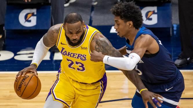 LeBron James leidt Lakers in NBA naar winst in Minnesota