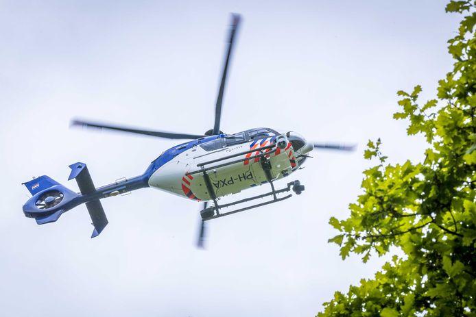 Een politiehelikopter werd met succes ingezet om de vrouw terug te vinden.