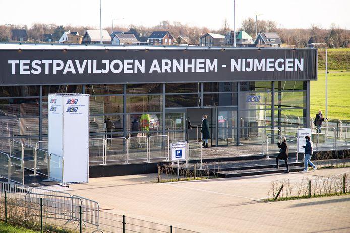 Testpaviljoen Arnhem-Nijmegen, nog geopend op Eerste Kerstdag.