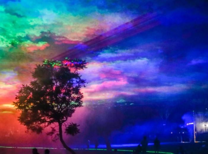 Voorsmaakje van de lichtshow Borealis.