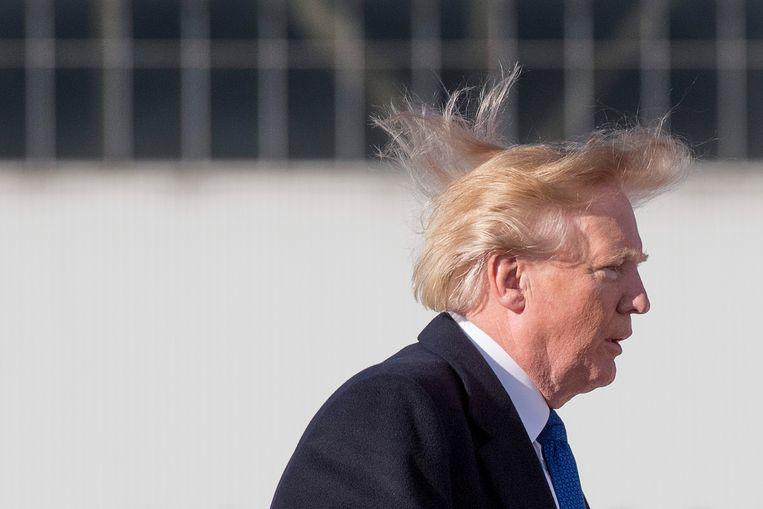 VS-president Donald Trump Beeld AFP