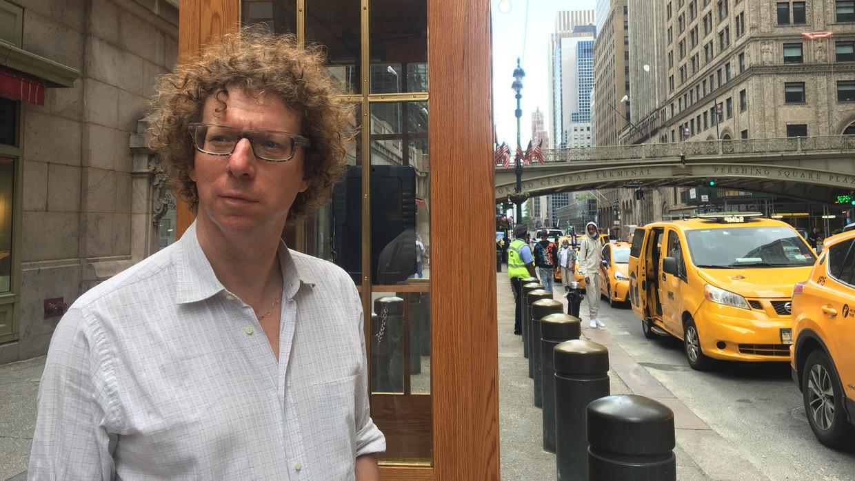 Arnon Grunberg in 'Europeaan in New York'. Beeld VPRO