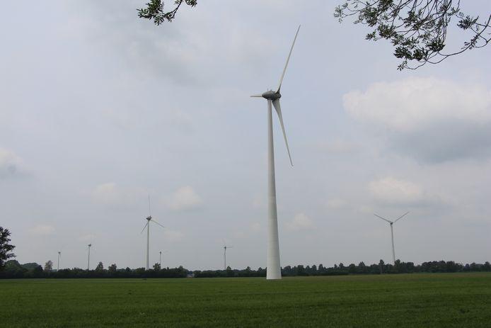 Het Aaltense windpark Hagenwind is één van de eerste windparken in de regio.