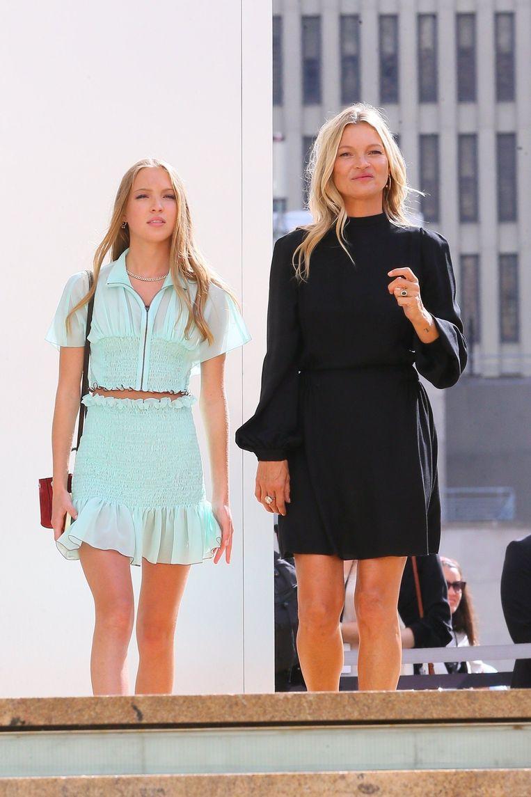 Kate Moss en haar dochter Lila.