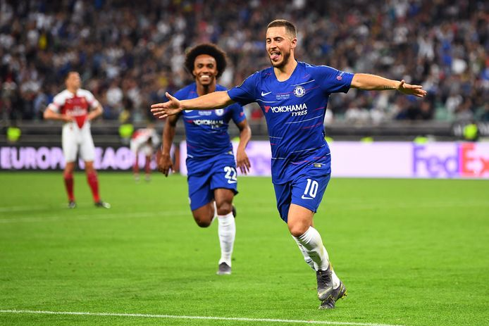 Hazard won met Chelsea in 2019 de Europa League na een Engelse finale tegen Arsenal.