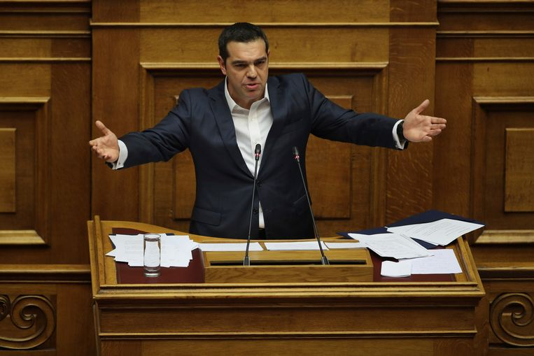 De Griekse minister president Alexis Tsipras Beeld AP