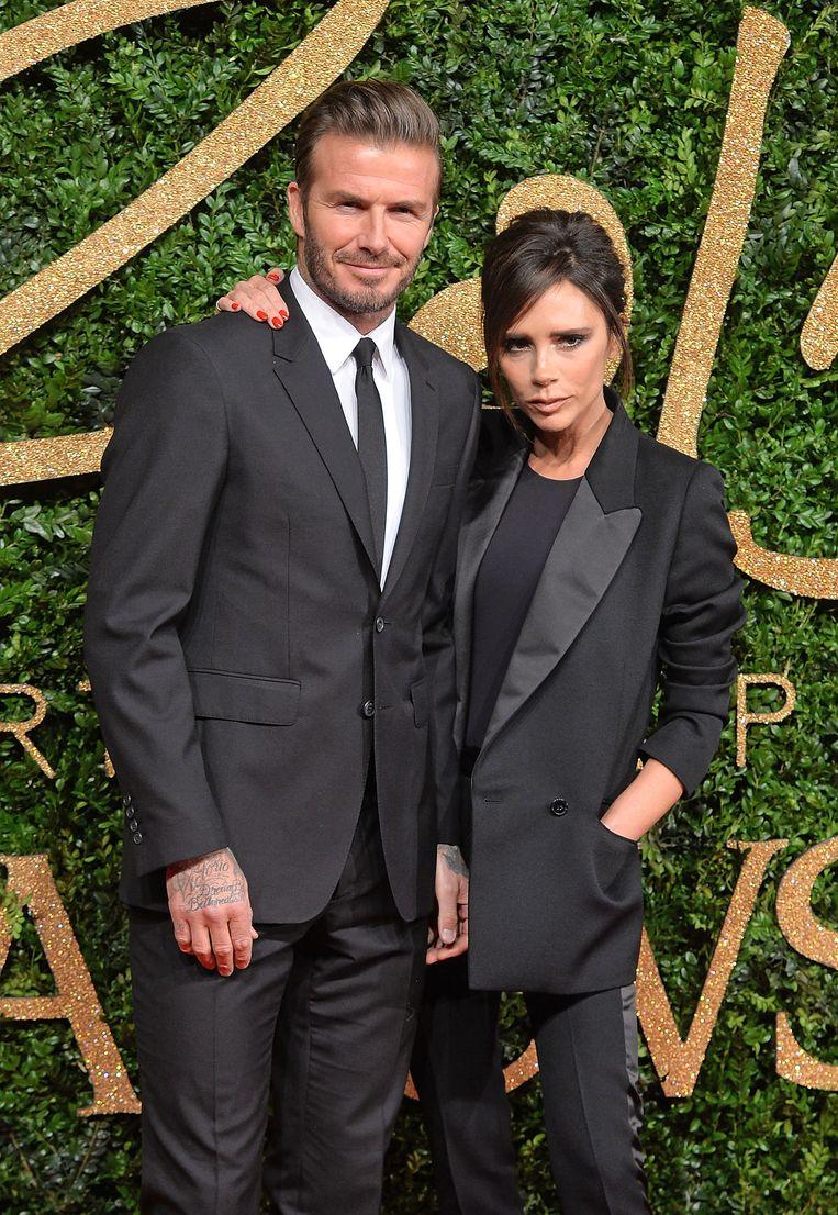 David en Victoria Beckham. Beeld Getty Images