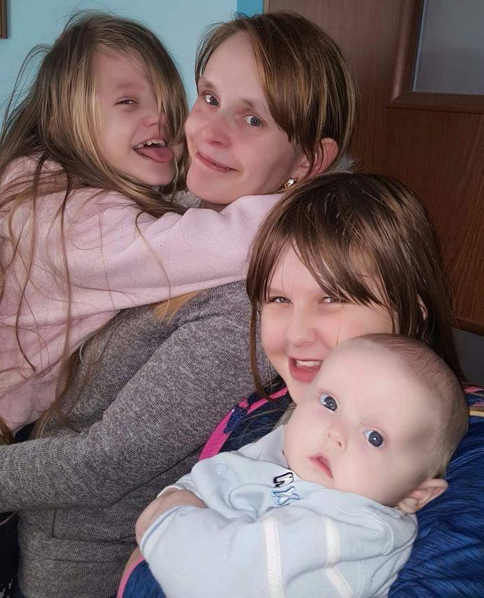 Marcins vrouw en hun drie kinderen.