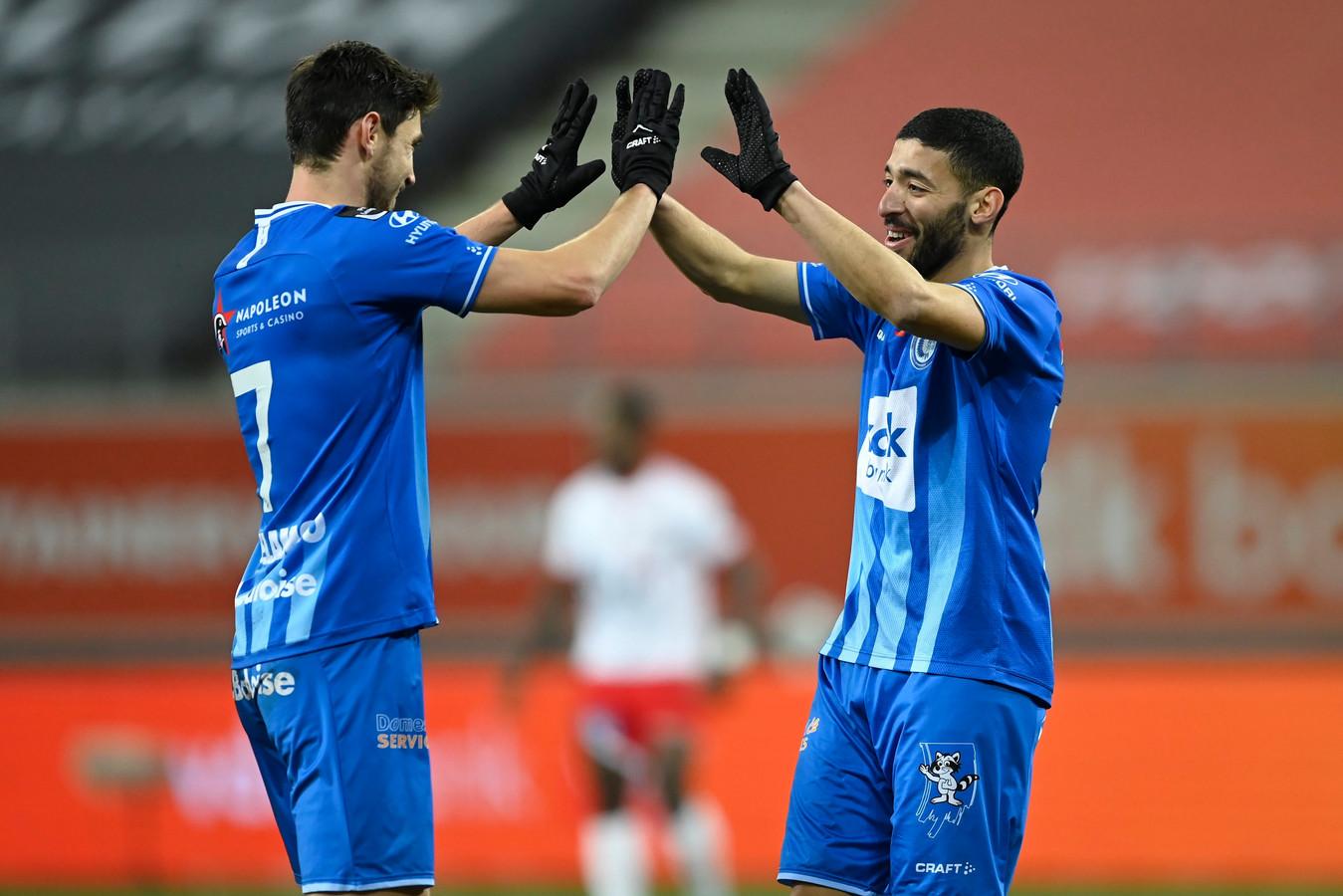 Yaremchuk en Tissoudali, de doelpuntenmakers voor AA Gent.