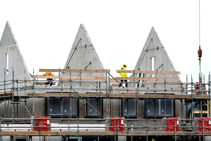 Nieuwbouw in de wijk Goese Diep in Goes.
