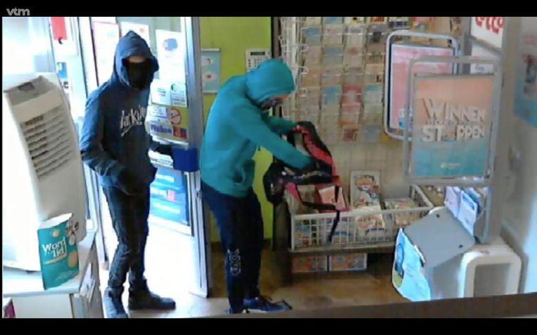 Een beeld van de overvallers in de dagbladhandel, in mei van dit jaar.