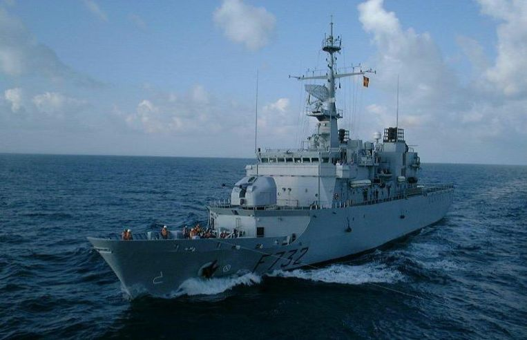 De piraten dachten dat de Nivôse een koopvaardijschip was en gingen in de achtervolging. Beeld UNKNOWN
