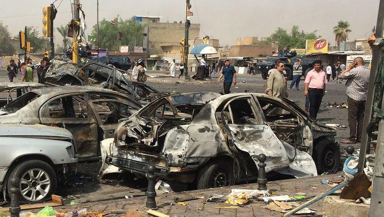 Beelden van een eerde aanslag in Irak op 26 augustus. Beeld ap