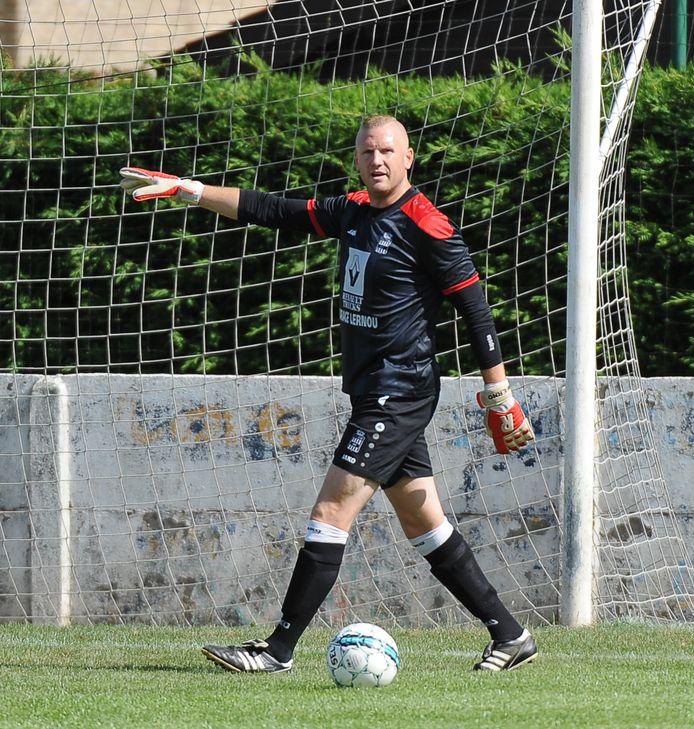 Guillaume Temperman  in het shirt van SK Geluwe.