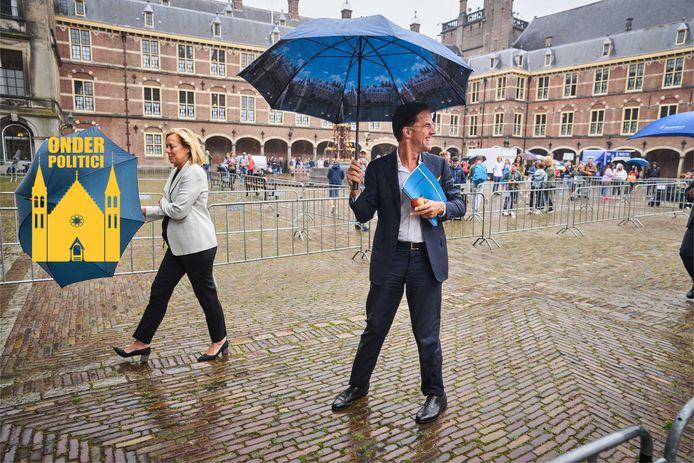 Sigrid Kaag (D66) en Mark Rutte (VVD).