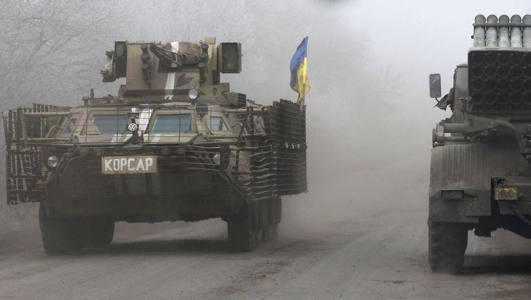 Oekraïense troepen rond Debaltseve. Beeld ap