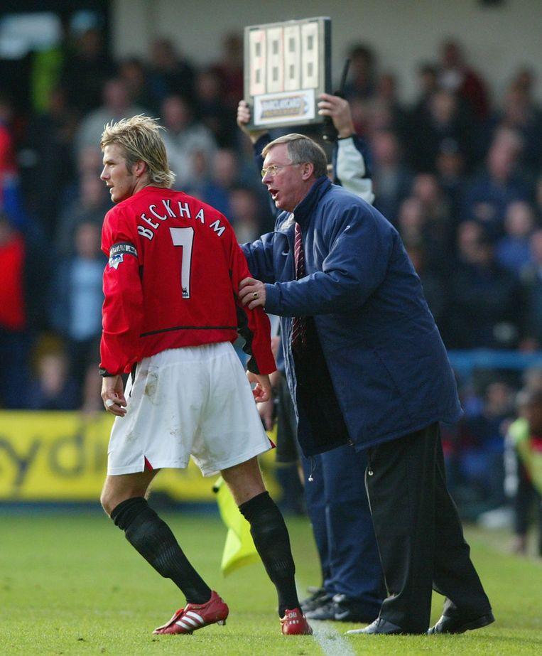 Beckham in zijn periode bij Manchester United Beeld GETTY