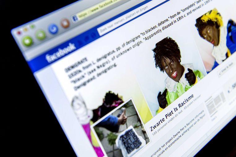 De Facebookpagina van Zwarte Piet is Racisme. Beeld ANP