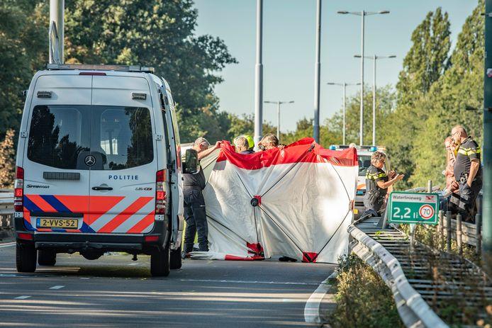 Dode na ongeval op de Waterlinieweg in Utrecht.