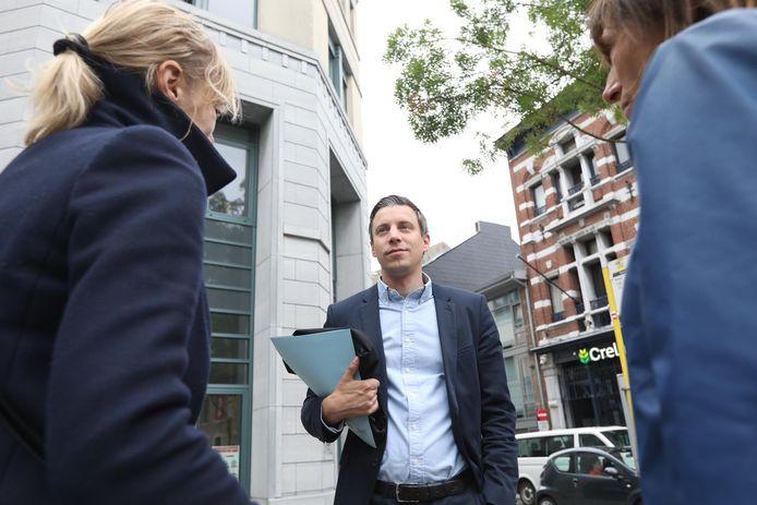 Advocaat Hans Valkenborg aan de rechtbank in Tongeren.