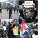 De eerste betogers verzamelen zich bij Rotterdam Centraal.