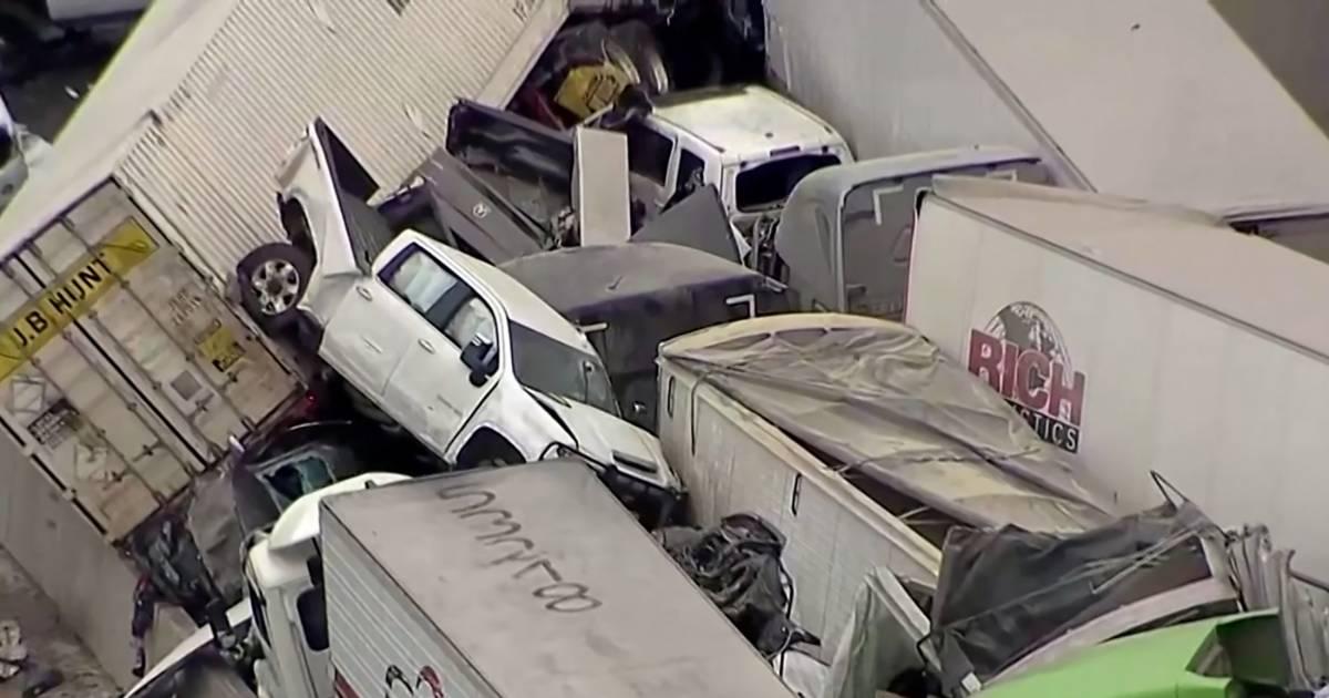 Minstens vijf doden bij gigantische kettingbotsing in Texas.