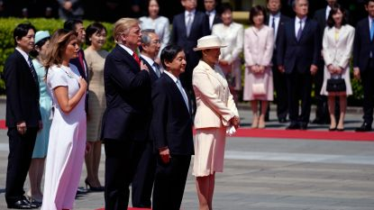 Trump ontmoet als eerste buitenlandse leider nieuwe Japanse kiezer Naruhito