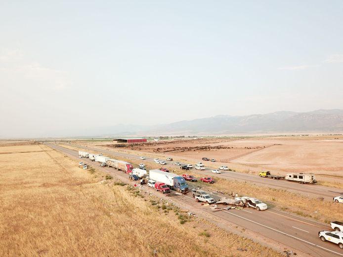22 véhicules sont impliqués dans le carambolage qui a fait huit victimes sur une autoroute de l'Utah.