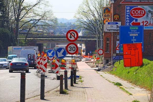 De Assesteenweg in Ternat