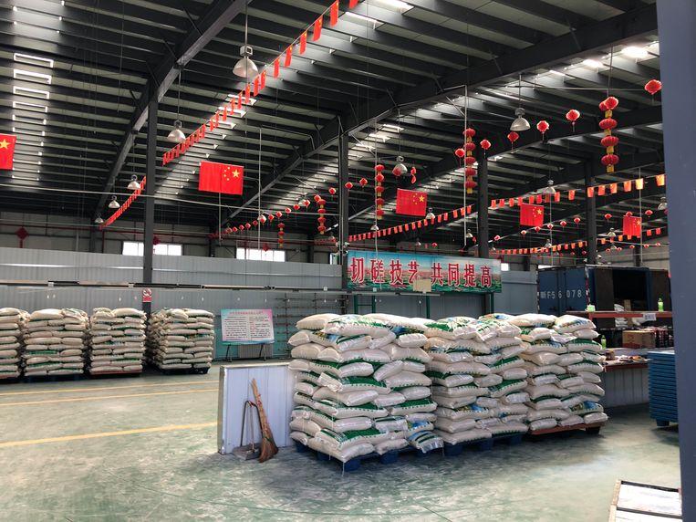 Een kijkje in een fabriekshal op de Nilka-Wujin MKB Ondernemersbasis. Beeld Leen Vervaeke